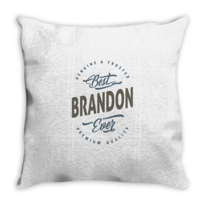 Is Your Name, Brandon. This Shirt Is For You! Throw Pillow Designed By Chris Ceconello