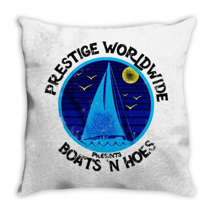 Boats N Hoes Prestige Worldwide Throw Pillow Designed By Blqs Apparel