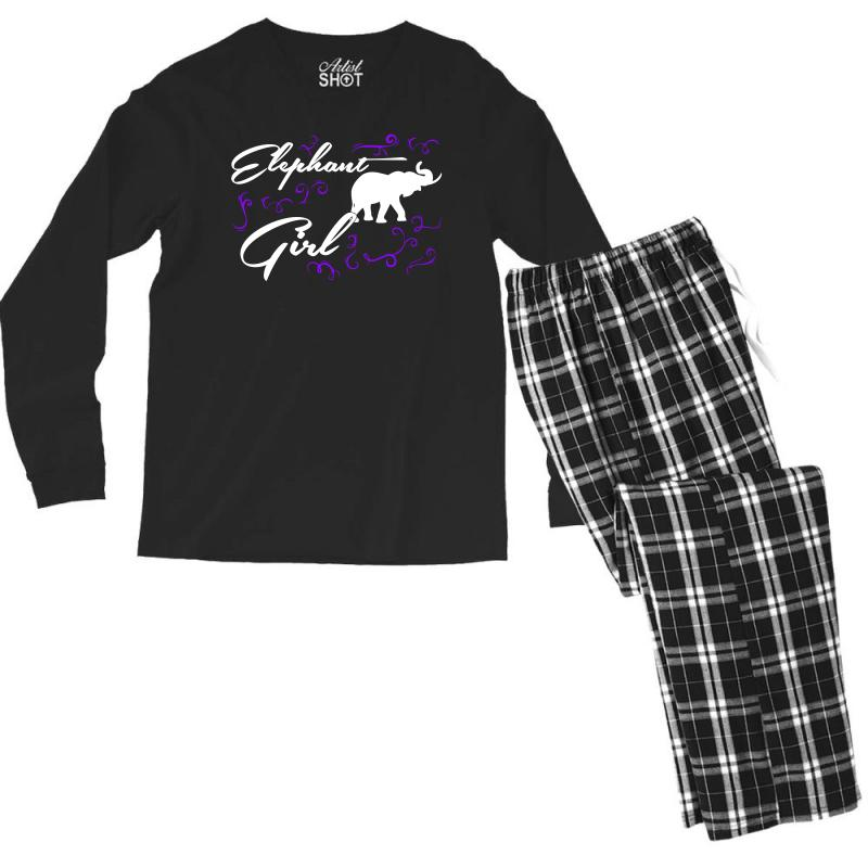 400fd60ae Custom Elephant Girl T Shirts Elephant T Shirt Riding Lovers Shirts Men s  Long Sleeve Pajama Set By Hung - Artistshot