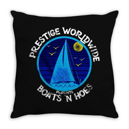 Boats And Hoes Prestige Worldwide Throw Pillow Designed By Blqs Apparel