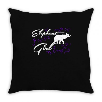 Elephant Girl T Shirts   Elephant T Shirt Riding Lovers Shirts Throw Pillow Designed By Hung