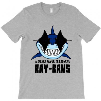 Sharks Favorite Eyewear Ray Bans Funny Pun T-shirt Designed By Milanacr