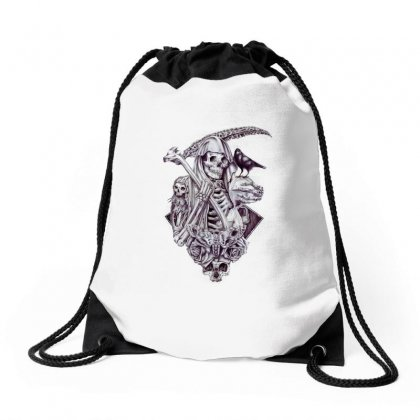Death Scythe Drawstring Bags Designed By Anrora