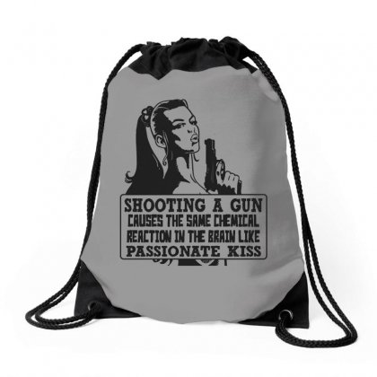 Shooting A Gun Causes The Same Chemical Reaction Drawstring Bags Designed By Milanacr