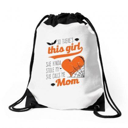 So There's This Girl She Kinda Stole My Heart Drawstring Bags Designed By Milanacr