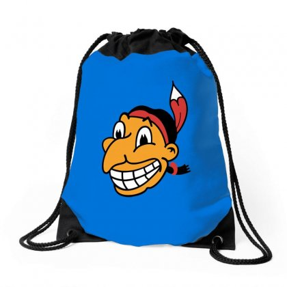 Cleveland Indians Chief Wahoo Drawstring Bags Designed By Irawan