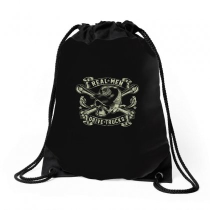 Real Men Are Truckers Drawstring Bags Designed By Anrora