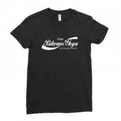 enjoy bikram yoga Ladies Fitted T-Shirt | Artistshot