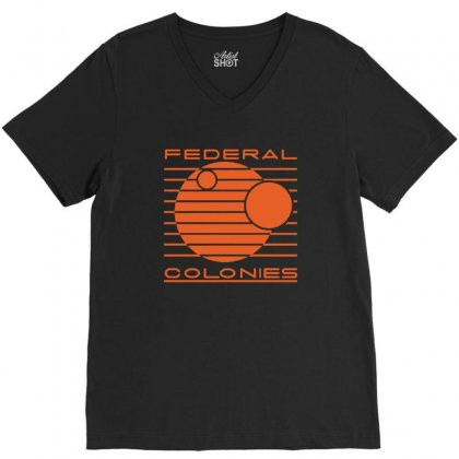 Federal Colonies Total Recall V-neck Tee Designed By Tee Shop