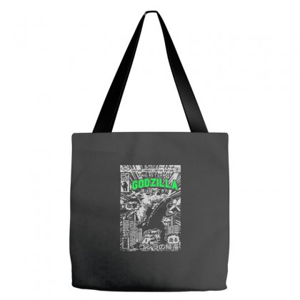 Godzilla Tote Bags Designed By Tee Shop