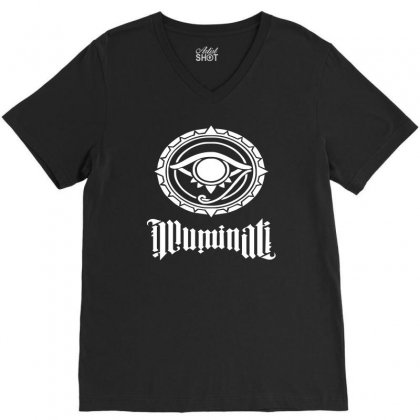 Illuminati V-neck Tee Designed By S4de