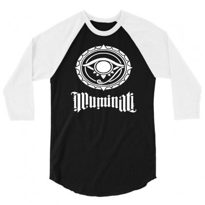 Illuminati 3/4 Sleeve Shirt Designed By S4de