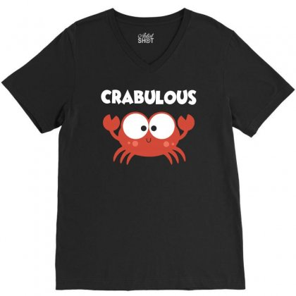 Crabulous Little Crab Tee Shirt V-neck Tee Designed By Hung
