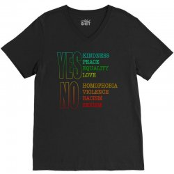 yes equality yes love no homophobia no racism pride shirts V-Neck Tee | Artistshot