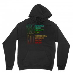 yes equality yes love no homophobia no racism pride shirts Unisex Hoodie | Artistshot