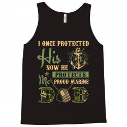 17f0b635 men s proud marine dad of his military son t shirt Tank Top | Artistshot