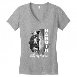 hangin with my heifers for dark Women's V-Neck T-Shirt | Artistshot