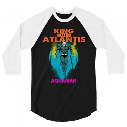King Of Atlantis 3/4 Sleeve Shirt Designed By Blqs Apparel