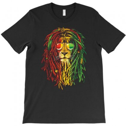 New! Men's Rasta Vibe Lion T-shirt Designed By S4de