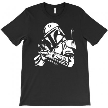 Star Wars Bobba Fett Inspired Tee T-shirt Designed By S4de
