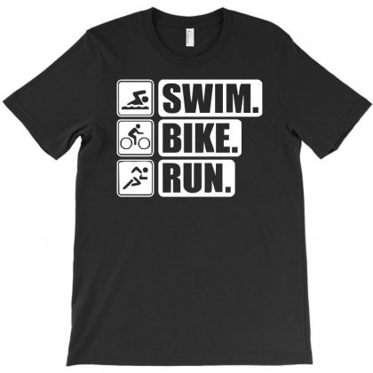 V6 Swim Bike Run T-shirt Designed By S4de