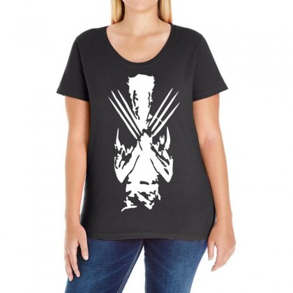 Wolverine Avengers Inspired Superhero Ladies Curvy T-shirt Designed By S4de