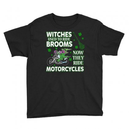 Irish Witches Ride Motorcycles T Shirt Youth Tee Designed By Hung