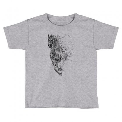 Illustration Of Horse Toddler T-shirt Designed By Milanacr