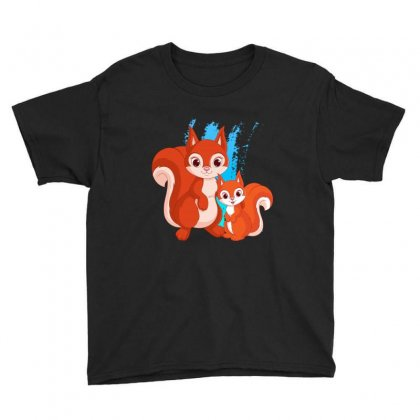 Mother And Little Squirrel Youth Tee Designed By Milanacr