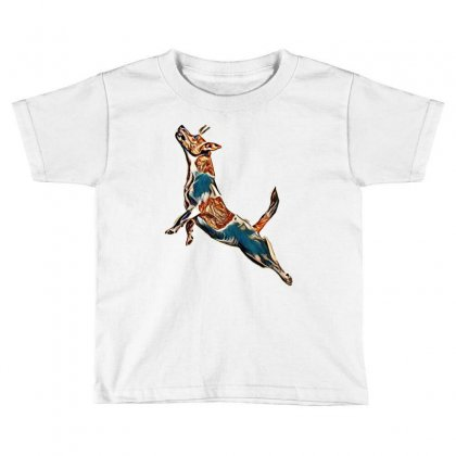 Isolated Jack Russell Action Toddler T-shirt Designed By Kemnabi