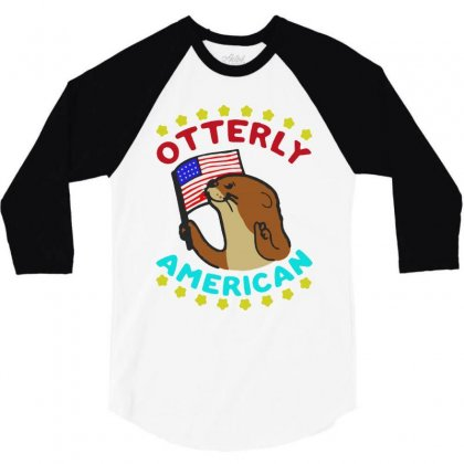 Otterly American 3/4 Sleeve Shirt Designed By Milanacr