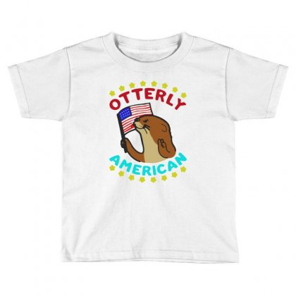 Otterly American Toddler T-shirt Designed By Milanacr