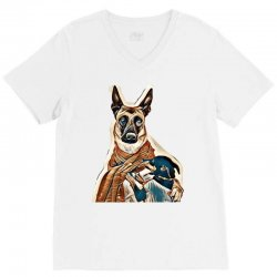 animal animals background beautiful V-Neck Tee | Artistshot