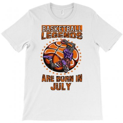Basketball Legends Are Born In July T-shirt Designed By Omer Acar