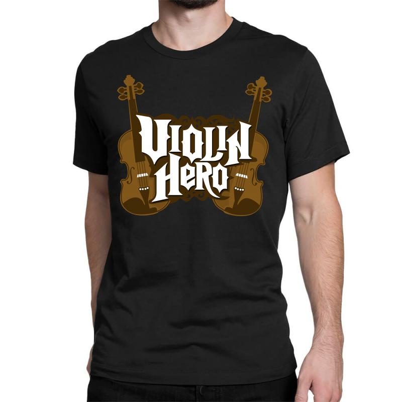 101f2605d Custom Violin Hero Classic T-shirt By Shoptee - Artistshot