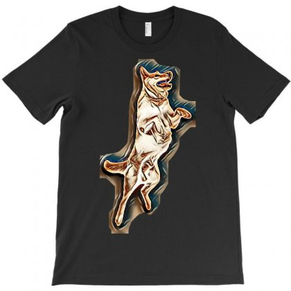 Jump Isolated Side Animal T-shirt Designed By Kemnabi