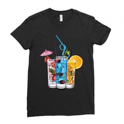 Summer Ice Iced Juice Cola Ladies Fitted T-shirt Designed By Milanacr