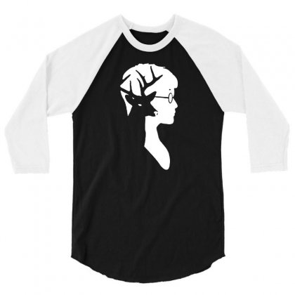 Harry Potter Deer Silhouette 3/4 Sleeve Shirt Designed By Tee Shop