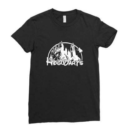 Hogwarts Ladies Fitted T-shirt Designed By Tee Shop