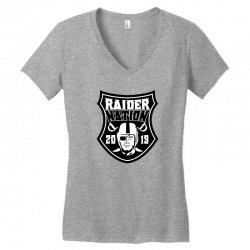 00837e462 Custom Raider Nation Baseball Cap Women's V-neck T-shirt By ...