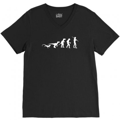 Icke Evolution T Shirt   Funny V-neck Tee Designed By Holil