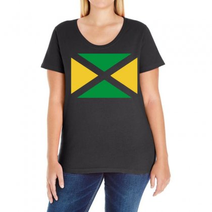 Jamaica Internationalsupport Your Country Sport Flag Ladies Curvy T-shirt Designed By Holil