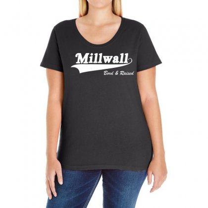 Millwall Born & Raised Retro Ladies Curvy T-shirt Designed By Holil