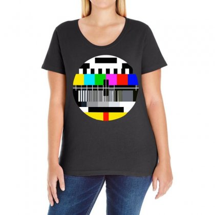 Monoscope Signal Ladies Curvy T-shirt Designed By Holil