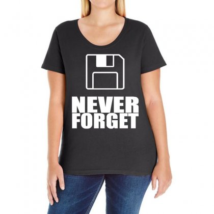 Never Forget 3.5 Floppies Ladies Curvy T-shirt Designed By Holil