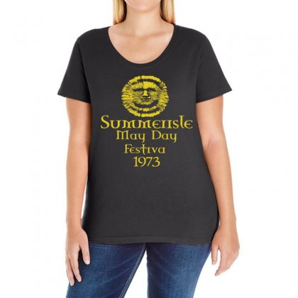 Summerisle Festival  Funny Ladies Curvy T-shirt Designed By Holil