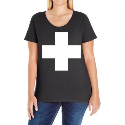 Switzerland International  Country T Sport Flag Sport Swiss Ladies Curvy T-shirt Designed By Holil