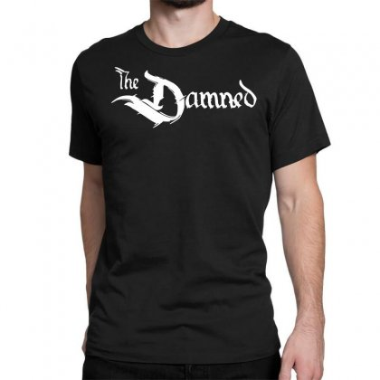 The Damned Band Logo Screen Printed Retro Classic T-shirt