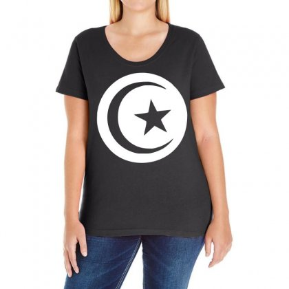 Tunisia International Support Your Country  Sport Flag Sport Ladies Curvy T-shirt Designed By Holil