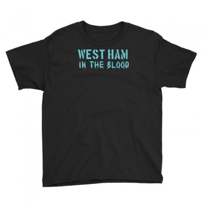 West Ham In The Blood Retro Style New Youth Tee Designed By Holil
